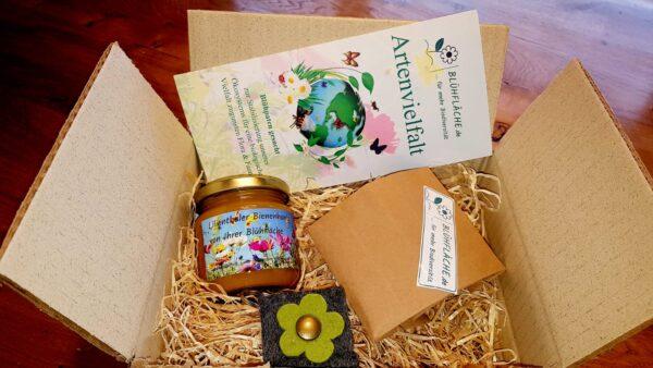 Blühfläche als Geschenk - Die Geschenkbox