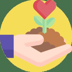Icon Blühfläche anpflanzen aussäen